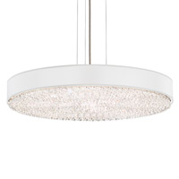 Eclyptix 12 Light 29 inch Stainless Steel Pendant Ceiling Light in Clear Heritage, White