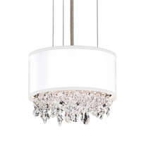 Schonbek EC1306N-401H3 Eclyptix 2 Light 7 inch Stainless Steel Pendant Ceiling Light in White Clear Heritage