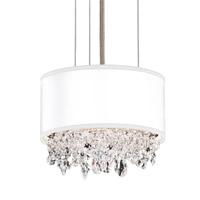 Schonbek EC1306N-401H3 Eclyptix 2 Light 7 inch Stainless Steel Pendant Ceiling Light in White Clear Heritage