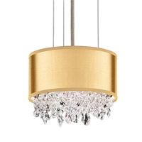 Schonbek EC1306N-401A4 Eclyptix 2 Light 7 inch Stainless Steel Pendant Ceiling Light in Gold, Clear Spectra