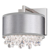 Eclyptix 2 Light 8 inch Stainless Steel Wall Sconce Wall Light in Clear Spectra, Eclyptix Black