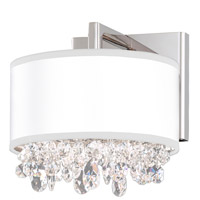 Schonbek EC1316N-401A3 Eclyptix 2 Light 8 inch Stainless Steel Wall Sconce Wall Light in Clear Spectra, Eclyptix White