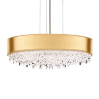 Schonbek EC1319N-401H4 Eclyptix 6 Light 20 inch Stainless Steel Pendant Ceiling Light in Gold Clear Heritage