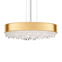 Schonbek EC1324N-401S4 Eclyptix 7 Light 24 inch Stainless Steel Pendant Ceiling Light in Swarovski, Eclyptix Gold