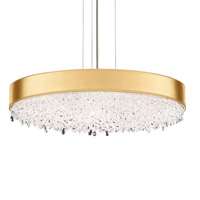 Schonbek EC1328N-401H4 Eclyptix 12 Light 29 inch Stainless Steel Pendant Ceiling Light in Gold, Clear Heritage