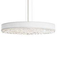 Eclyptix 20 Light 40 inch Stainless Steel Pendant Ceiling Light in Clear Heritage, White