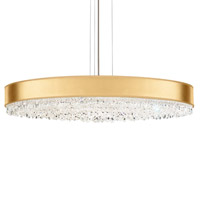 Schonbek EC1340N-401A4 Eclyptix 20 Light 40 inch Stainless Steel Pendant Ceiling Light in Gold, Clear Spectra