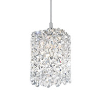 Schonbek RE0405A Refrax 1 Light 4 inch Stainless Steel Pendant Ceiling Light in Clear Spectra, Geometrix,Canopy Sold Separately photo thumbnail