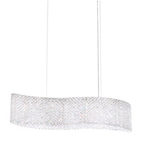 Refrax 13 Light 32 inch Stainless Steel Pendant Ceiling Light in Clear Spectra, Canopy Included