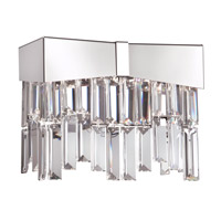 Schonbek RF2402N-401A Riviera 2 Light 4 inch Stainless Steel Wall Bracket Wall Light in Spectra Polished Stainless Steel