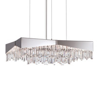Schonbek RF2432N-16A Riviera 8 Light 32 inch Brushed Stainless Steel Pendant Ceiling Light in Clear Spectra