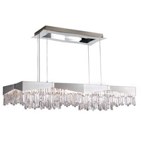 Schonbek RF2448N-16A Riviera 16 Light 48 inch Brushed Stainless Steel Pendant Ceiling Light in Clear Spectra