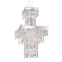 Schonbek RF2460N-401A Riviera 24 Light 24 inch Stainless Steel Foyer Pendant Ceiling Light in Polished Stainless Steel, Clear Spectra