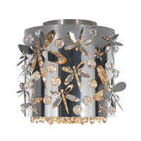 Schonbek Shadow Dance 1 Light Flush Mount in Black Pearl and Golden Shadow Swarovski Elements Colors Trim SH0608N-49GS photo thumbnail