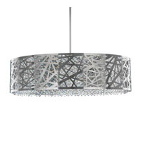 Schonbek Shadow Dance 8 Light Pendant in Brushed Stainless Steel and Clear Spectra Crystal Trim SH0805N-16A photo thumbnail
