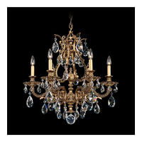 Schonbek Sophia 6 Light Chandelier in Florentine Bronze and Clear Spectra Crystal Trim 6946-83A
