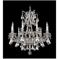 Schonbek 6949-80S Sophia 9 Light 28 inch Roman Silver Chandelier Ceiling Light in Clear Swarovski