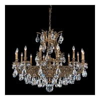 Schonbek Sophia 14 Light Chandelier in Midnight Gild and Clear Spectra Crystal Trim 6954-86A