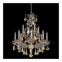 Schonbek Sophia 12 Light Chandelier in Gilded Pewter and Golden Shadow Heritage Handcut Colors Trim 6958-89GS