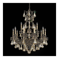 Schonbek Sophia 15 Light Chandelier in Midnight Gild and Golden Shadow Heritage Handcut Colors Trim 6959-86GS