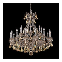 Schonbek Sophia 21 Light Chandelier in Royal Pewter and Golden Shade Heritage Handcut Colors Trim 6961-84TK
