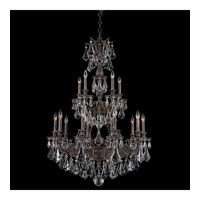 Schonbek Sophia 15 Light Chandelier in Coppertina and Clear Optic Handcut Trim 6964-87O