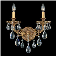 Sophia 2 Light 8 inch Florentine Bronze Wall Sconce Wall Light in Clear Spectra