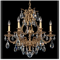 Sophia 6 Light 24 inch Florentine Bronze Chandelier Ceiling Light in Clear Spectra