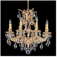 Sophia 8 Light 26 inch Parchment Gold Chandelier Ceiling Light in Clear Spectra