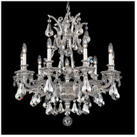 Schonbek 6949-80SH Sophia 9 Light 28 inch Roman Silver Chandelier Ceiling Light in Silver Shade