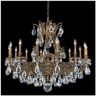 Sophia 14 Light Etruscan Gold Chandelier Ceiling Light in Clear Swarovski