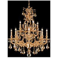 Sophia 12 Light 28 inch French Gold Chandelier Ceiling Light in Golden Teak