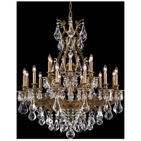 Sophia 18 Light 35 inch Etruscan Gold Chandelier Ceiling Light in Clear Optic Handcut