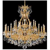 Sophia 21 Light 42 inch Heirloom Gold Chandelier Ceiling Light in Clear Optic Handcut
