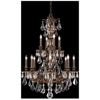 Sophia 12 Light 28 inch Heirloom Bronze Chandelier Ceiling Light in Clear Optic Handcut