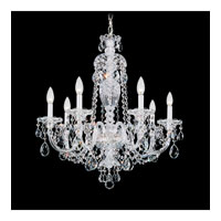 Schonbek Sterling 7 Light Chandelier in Silver and Clear Heritage Handcut (R) Trim 2995-40H