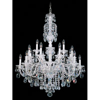Schonbek Sterling 20 Light Chandelier in Silver and Clear Heritage Handcut (R) Trim 2998-40H