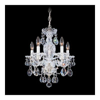 Schonbek Sterling 5 Light Chandelier in Silver and Clear Heritage Handcut (R) Trim 2999-40H