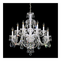 Schonbek Sterling 12 Light Chandelier in Silver and Clear Heritage Handcut (R) Trim 3601-40H