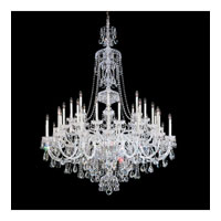 Schonbek Sterling 45 Light Chandelier in Silver and Clear Heritage Handcut (R) Trim 3612-40H