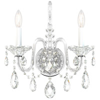 Schonbek 2991-40H Sterling 2 Light 7 inch Silver Wall Sconce Wall Light in Polished Silver, Clear Heritage