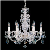 Schonbek 2994-40H Sterling 6 Light 21 inch Silver Chandelier Ceiling Light in Clear Heritage
