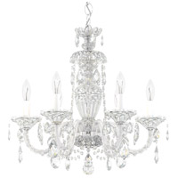 Sterling 6 Light 21 inch Silver Chandelier Ceiling Light in Polished Silver, Clear Heritage