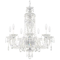 Sterling 7 Light Silver Chandelier Ceiling Light in Polished Silver, Clear Spectra