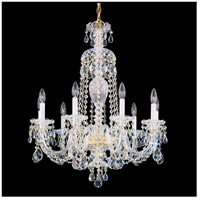 Sterling 9 Light 27 inch Silver Chandelier Ceiling Light in Clear Heritage
