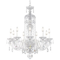 Schonbek 2996-40A Sterling 9 Light Silver Chandelier Ceiling Light in Spectra, Polished Silver