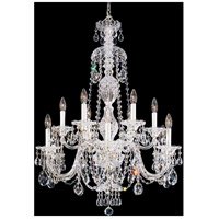 Schonbek 2997-40A Sterling 12 Light Silver Chandelier Ceiling Light in Spectra, Polished Silver