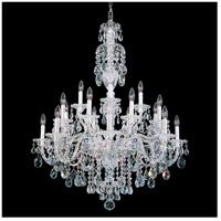 Schonbek 2998-40H Sterling 20 Light 34 inch Silver Chandelier Ceiling Light in Polished Silver Clear Heritage
