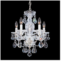 Schonbek 2999-40H Sterling 5 Light 16 inch Silver Chandelier Ceiling Light in Clear Heritage