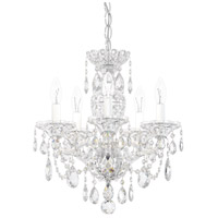 Schonbek 2999-40H Sterling 5 Light 16 inch Silver Chandelier Ceiling Light in Polished Silver, Clear Heritage